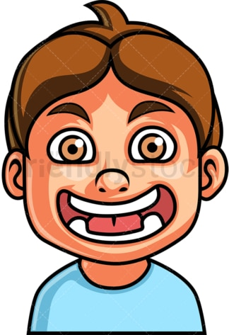 Little boy surprised face. PNG - JPG and vector EPS file formats (infinitely scalable). Image isolated on transparent background.
