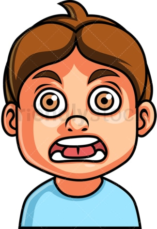 Little boy shocked face. PNG - JPG and vector EPS file formats (infinitely scalable). Image isolated on transparent background.