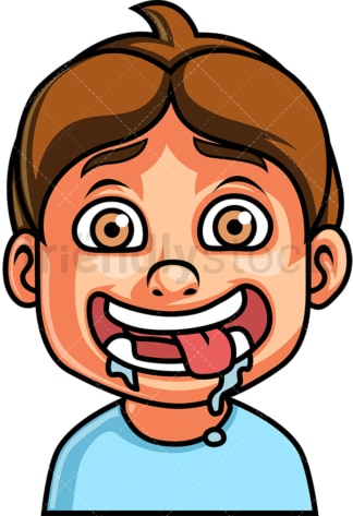 Little boy hungry face. PNG - JPG and vector EPS file formats (infinitely scalable). Image isolated on transparent background.