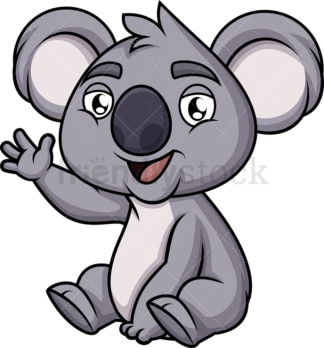 Friendly koala bear. PNG - JPG and vector EPS (infinitely scalable). Image isolated on transparent background.