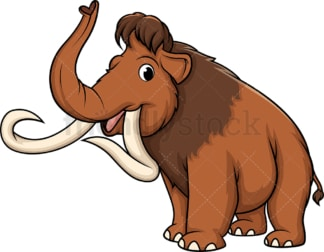 Happy mammoth. PNG - JPG and vector EPS (infinitely scalable).