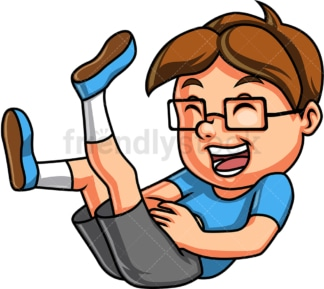 Kid laughing. PNG - JPG and vector EPS. Isolated on transparent background.