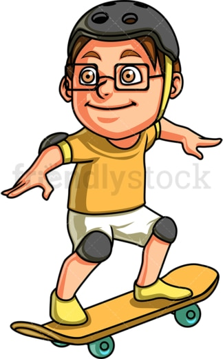 Little boy skater. PNG - JPG and vector EPS. Isolated on transparent background.