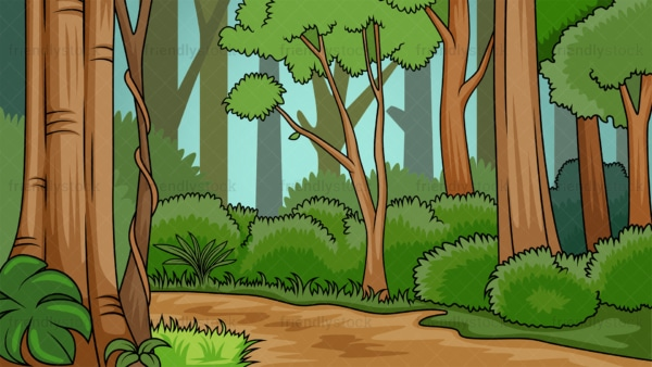 Lush forest background in 16:9 aspect ratio. PNG - JPG and vector EPS file formats (infinitely scalable).