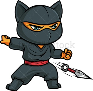 Ninja cat. PNG - JPG and vector EPS (infinitely scalable).