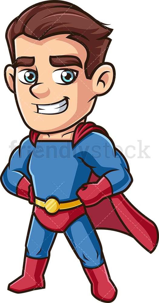 Proud male super hero. PNG - JPG and vector EPS (infinitely scalable).