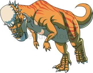 Realistic pachycephalosaurus. PNG - JPG and vector EPS (infinitely scalable).