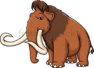 Angry mammoth. PNG - JPG and vector EPS (infinitely scalable).
