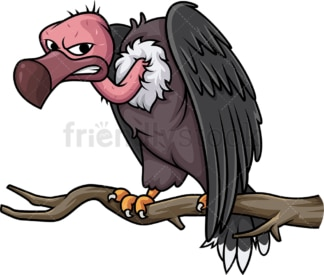 Creepy vulture. PNG - JPG and vector EPS (infinitely scalable).
