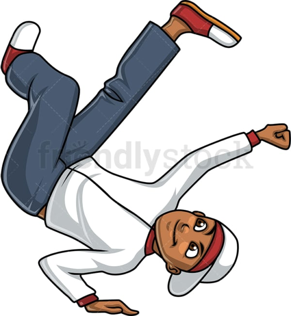 Man break dancing. PNG - JPG and vector EPS (infinitely scalable). Image isolated on transparent background.