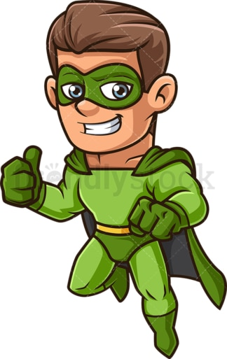Man in green superhero costume. PNG - JPG and vector EPS (infinitely scalable).