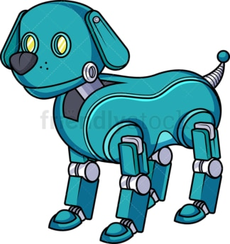 Robotic dog robot. PNG - JPG and vector EPS (infinitely scalable).