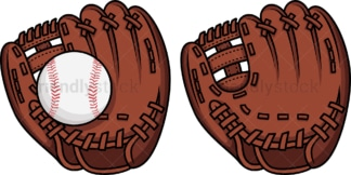 Baseball glove. PNG - JPG and vector EPS file formats (infinitely scalable). Image isolated on transparent background.