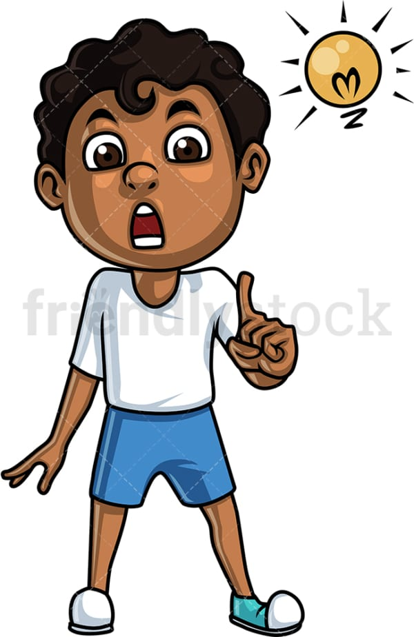 Black boy talking. PNG - JPG and vector EPS (infinitely scalable).