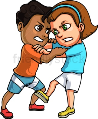 Boy and girl fight. PNG - JPG and vector EPS (infinitely scalable).