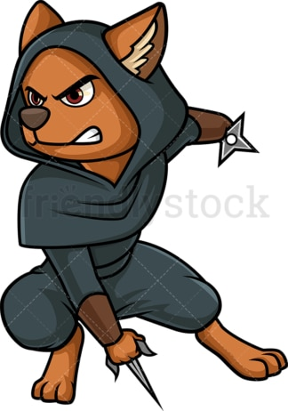 Ninja dog. PNG - JPG and vector EPS (infinitely scalable).