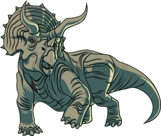 Realistic triceratops. PNG - JPG and vector EPS (infinitely scalable).