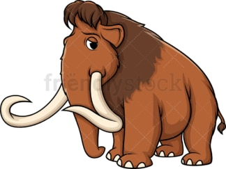 Sad mammoth. PNG - JPG and vector EPS (infinitely scalable).