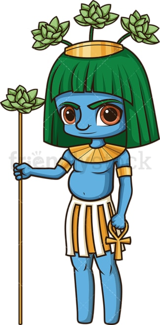 Ancient egyptian god hapi. PNG - JPG and vector EPS file formats (infinitely scalable). Image isolated on transparent background.