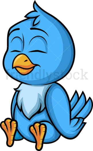 Blue bird sitting. PNG - JPG and vector EPS (infinitely scalable). Image isolated on transparent background.