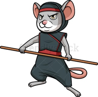 Ninja mouse. PNG - JPG and vector EPS (infinitely scalable).