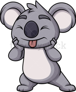 Playful koala bear. PNG - JPG and vector EPS (infinitely scalable). Image isolated on transparent background.