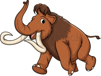 Running mammoth. PNG - JPG and vector EPS (infinitely scalable).