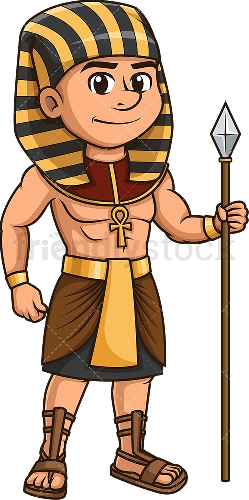 Ancient egyptian guard. PNG - JPG and vector EPS (infinitely scalable).
