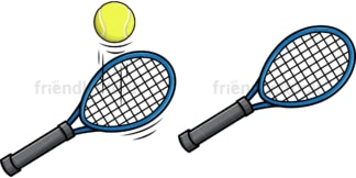 Tennis racket. PNG - JPG and vector EPS file formats (infinitely scalable). Image isolated on transparent background.