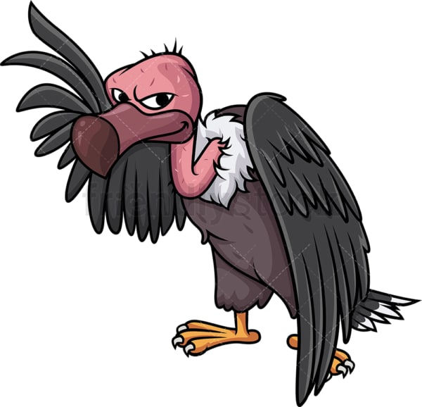 Vulture pointing up. PNG - JPG and vector EPS (infinitely scalable).