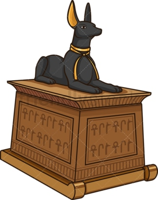 Ancient egyptian treasure chest. PNG - JPG and vector EPS (infinitely scalable).