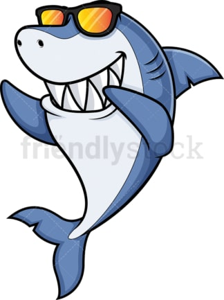 Dabbing shark - Image isolated on white transparent background.