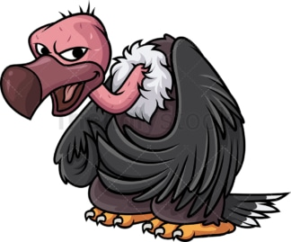 Evil vulture. PNG - JPG and vector EPS (infinitely scalable).