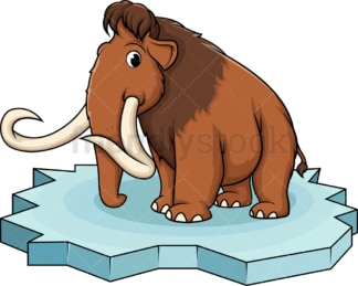 Mammoth on ice floe. PNG - JPG and vector EPS (infinitely scalable).