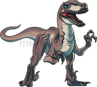 Realistic velociraptor. PNG - JPG and vector EPS (infinitely scalable).