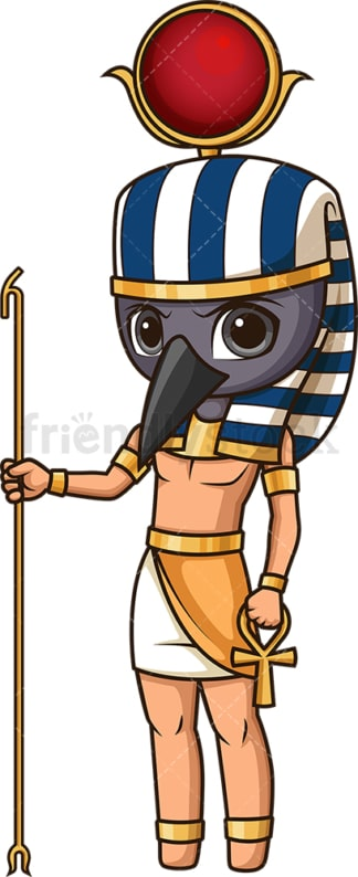 Ancient egyptian god thoth. PNG - JPG and vector EPS file formats (infinitely scalable). Image isolated on transparent background.