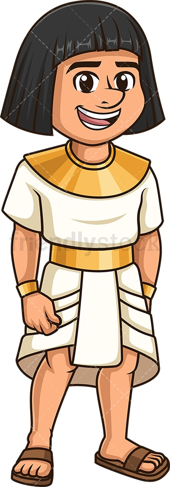 Ancient egyptian nobleman. PNG - JPG and vector EPS file formats (infinitely scalable). Image isolated on transparent background.