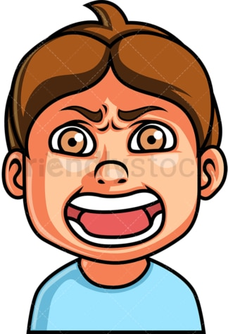 Little boy screaming face. PNG - JPG and vector EPS file formats (infinitely scalable). Image isolated on transparent background.