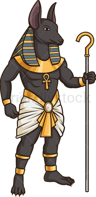 Mythical ancient egyptian tomb guard. PNG - JPG and vector EPS (infinitely scalable).