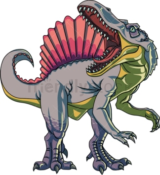 Realistic spinosaurus. PNG - JPG and vector EPS (infinitely scalable).