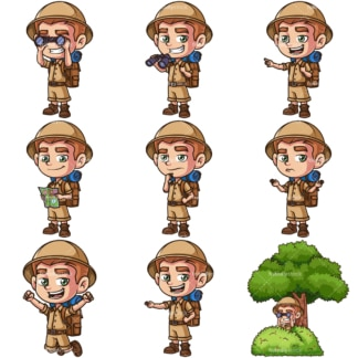 Child explorer. PNG - JPG and infinitely scalable vector EPS - on white or transparent background.