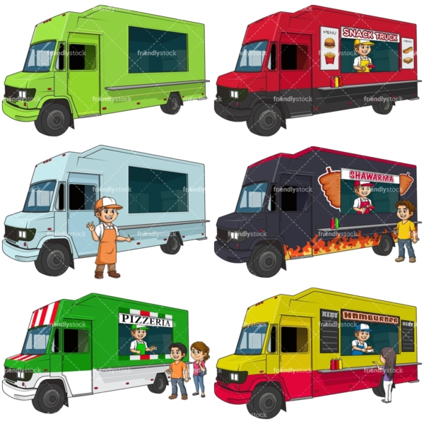 Food truck business. PNG - JPG and vector EPS file formats (infinitely scalable).