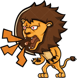 Angry lion yelling. PNG - JPG and vector EPS (infinitely scalable).