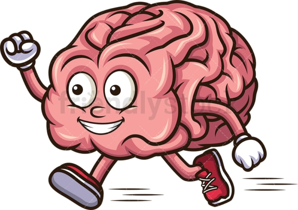 Brain running. PNG - JPG and vector EPS (infinitely scalable).