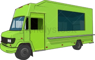 Green food truck. PNG - JPG and vector EPS (infinitely scalable).