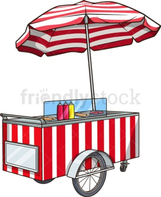 Hot dog cart. PNG - JPG and vector EPS (infinitely scalable).
