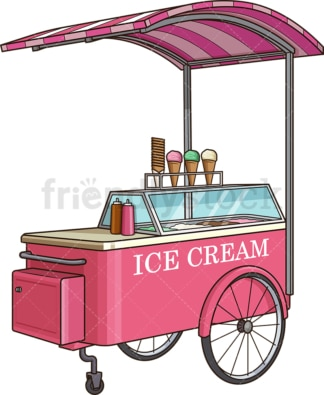 Ice cream cart. PNG - JPG and vector EPS (infinitely scalable).