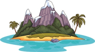 Mountainous tropical island. PNG - JPG and vector EPS (infinitely scalable).