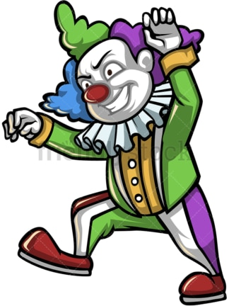 Scary clown. PNG - JPG and vector EPS (infinitely scalable).