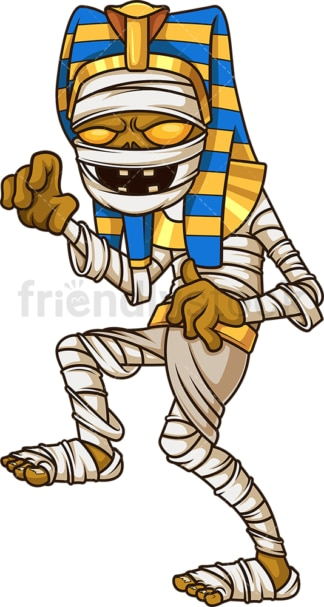 Scary pharaoh mummy. PNG - JPG and vector EPS file formats (infinitely scalable). Image isolated on transparent background.